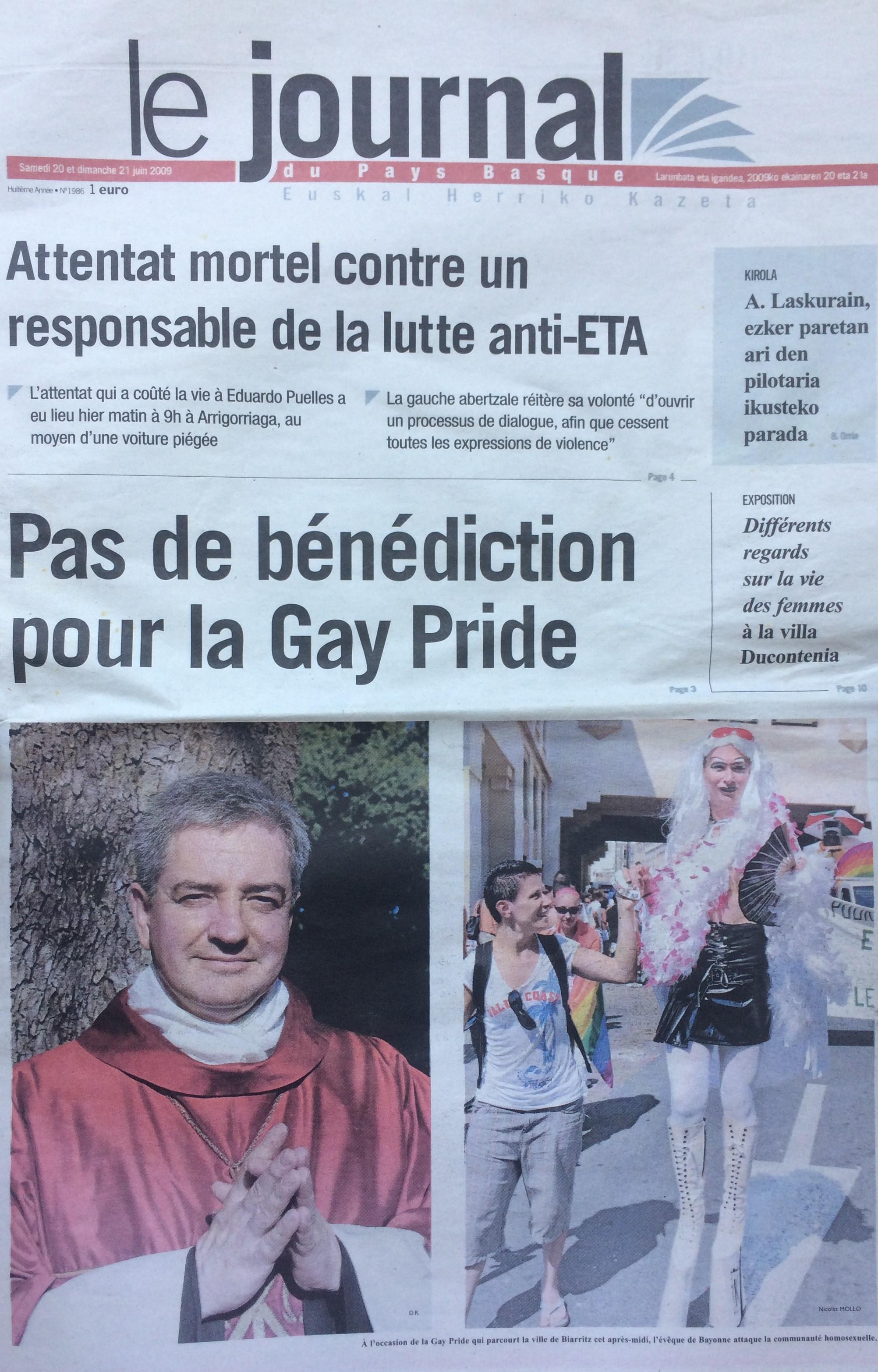 le journal du Pays Basque 20-21 juin 2009.jpg